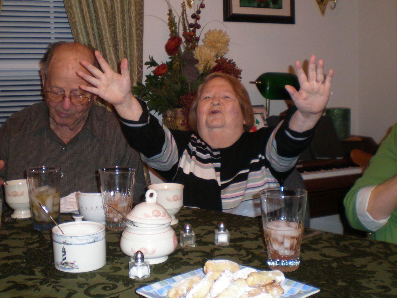 Lois celebrating - loving life!